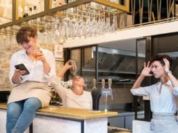 L'équipe restaurant Les Infidèles